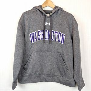 Under Armour | Grey Embroidered UW Hoodie Small